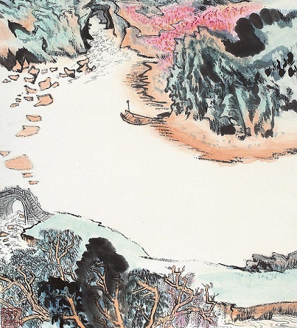 遥看一处攒云树,近入千家散花竹。全诗意思及赏析