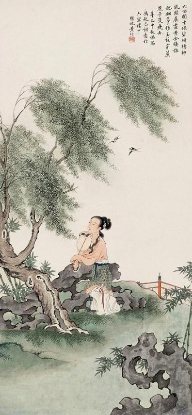 《鹊踏枝·六曲阑干偎碧树》冯延巳原文注释翻译赏析