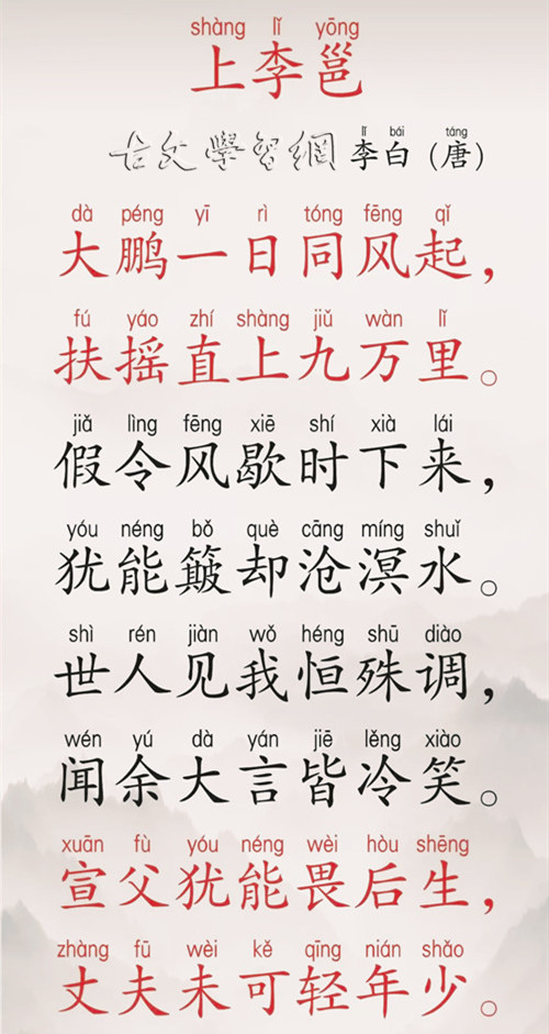《上李邕》李白唐诗注释翻译赏析