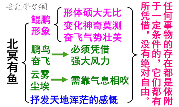 《北冥有鱼》庄子文言文原文注释翻译
